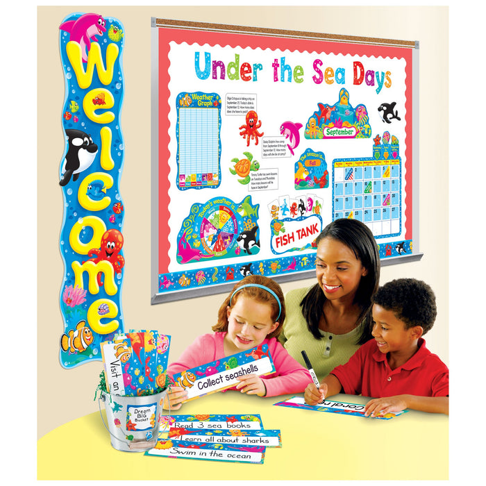 T69948 Name Plate Sea Life Variety Pack Classroom