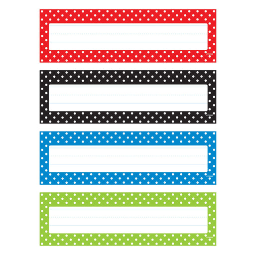 T69951 Name Plate Polka Dots Variety Pack