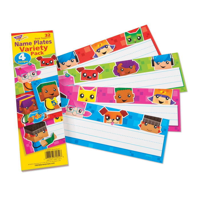 T69954 Name Plate Block Star Kids Dog Cat Variety Pack