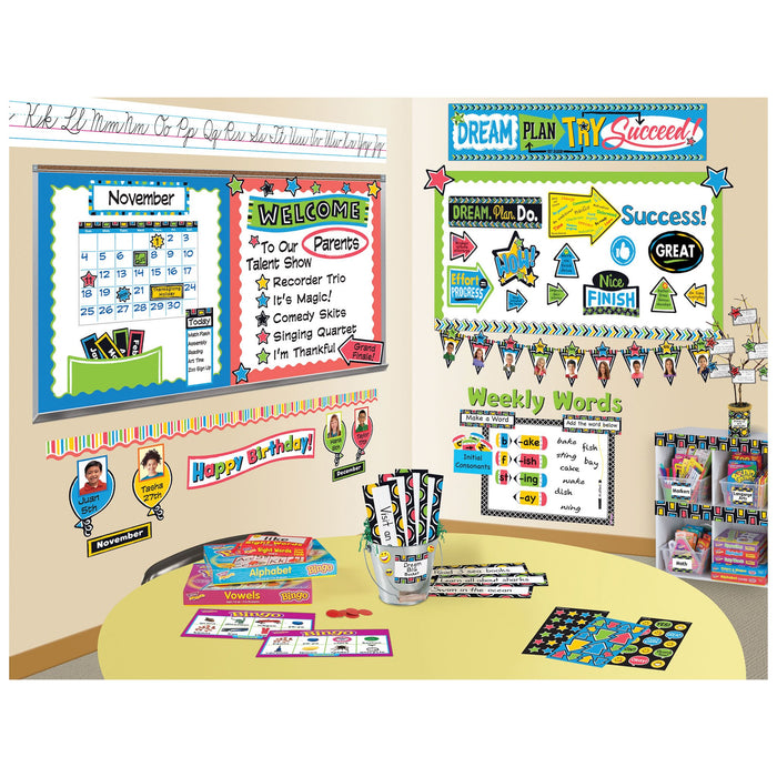 T69956 Name Plate Bold Circle Variety Pack Classroom
