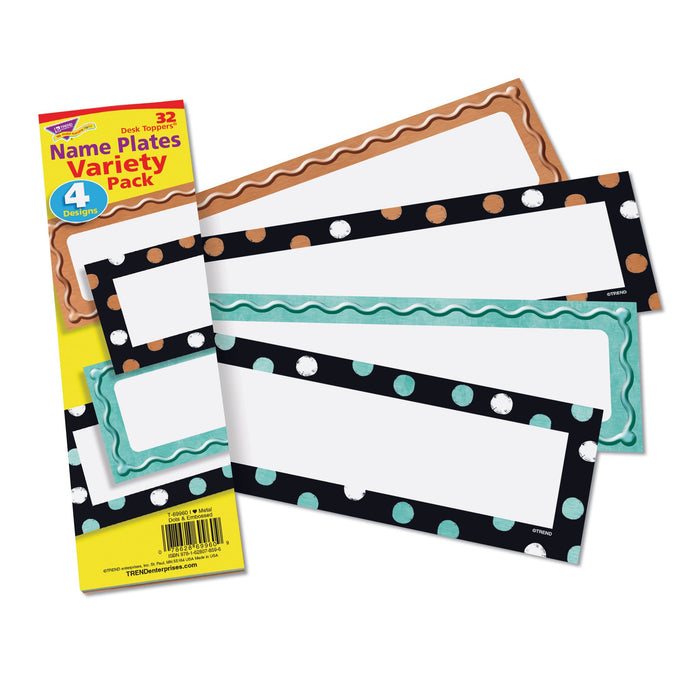T69960 Name Plate Metal Variety Pack