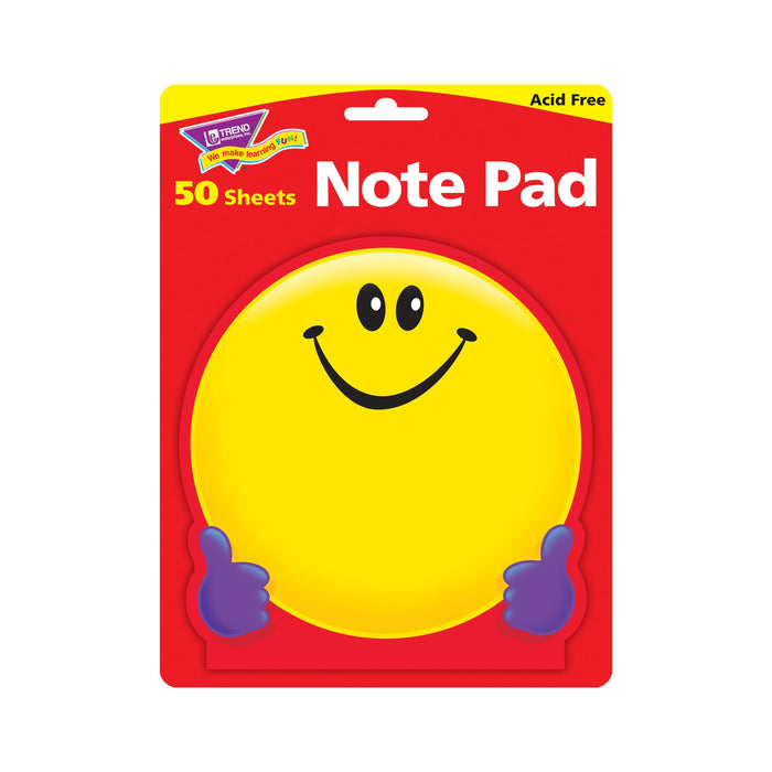 T72013 Note Pad Smiley Face Package