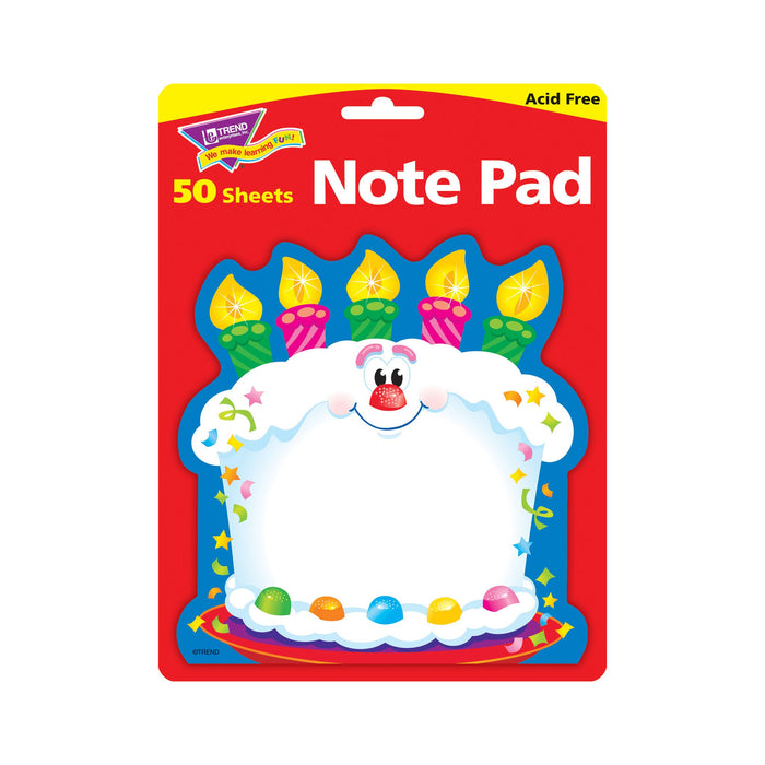 T72071 Note Pad Birthday Cake Package
