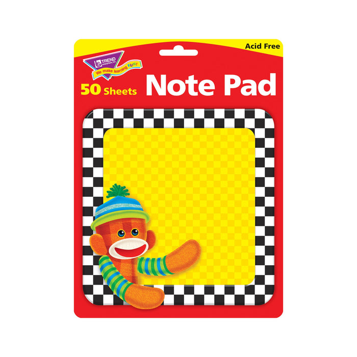T72100 Note Pad Sock Monkey Package