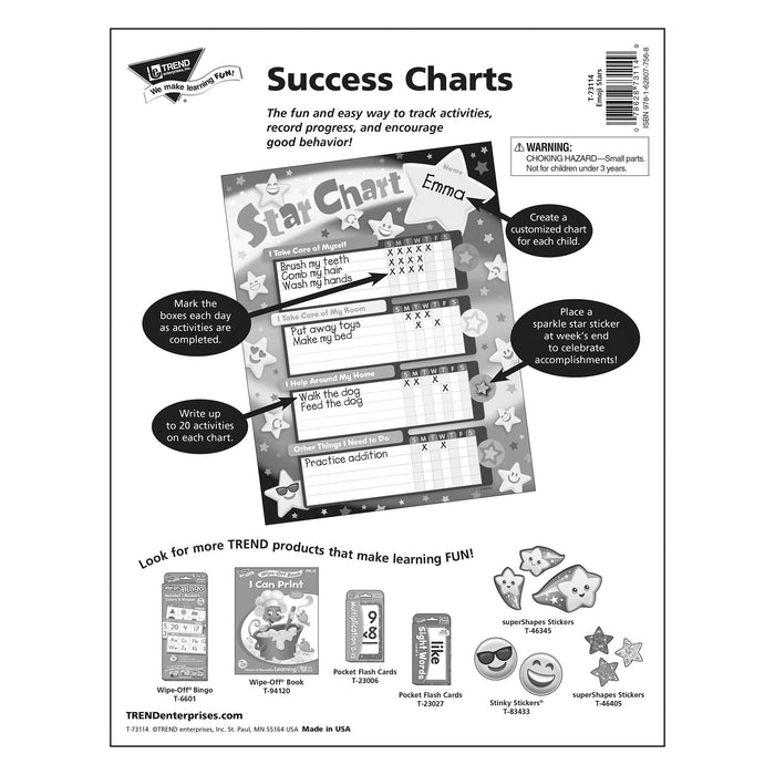 T73114 Incentive Chore Chart Emoji Stars Package Back