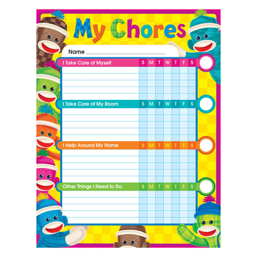 T73145 Incentive Chore Chart Sock Monkey
