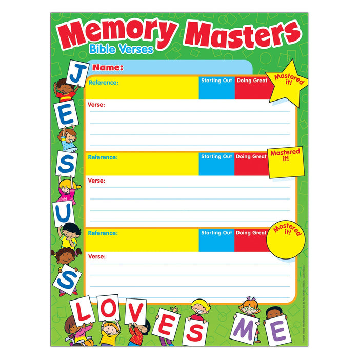 T73701 Jesus Loves Me Memory Masters Chore Charts