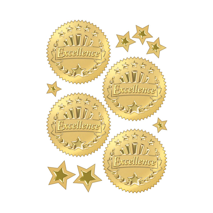 T74003 Stickers Award Seal Excellence Gold