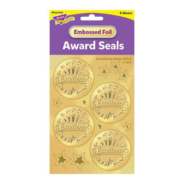 T74003 Stickers Award Seal Excellence Gold Package