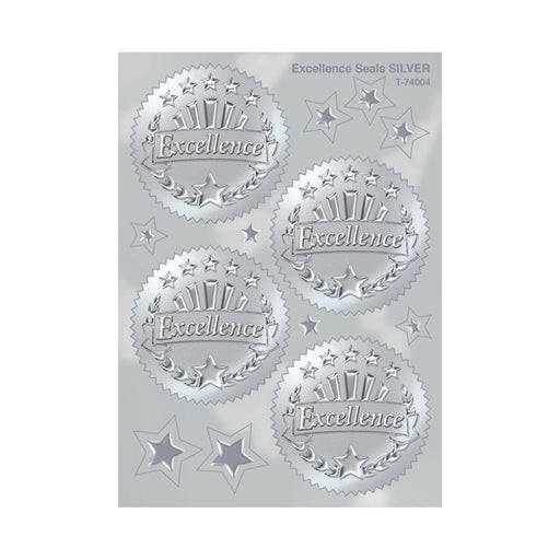 T74004 Stickers Award Seal Excellence Silver