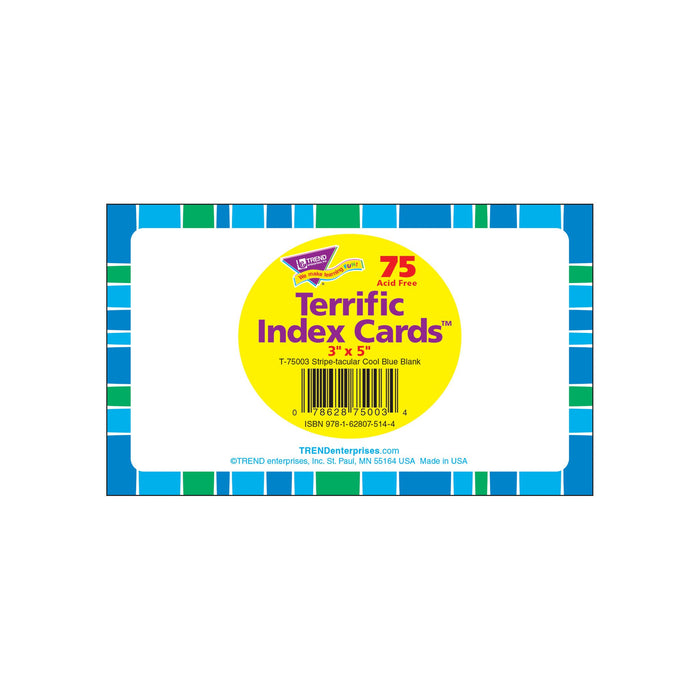 T75003 Index Cards Cool Blue Package
