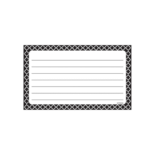 T75301 Index Cards Moroccan Black