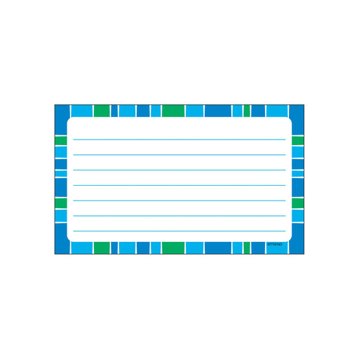 T75303 Index Cards Cool Blue