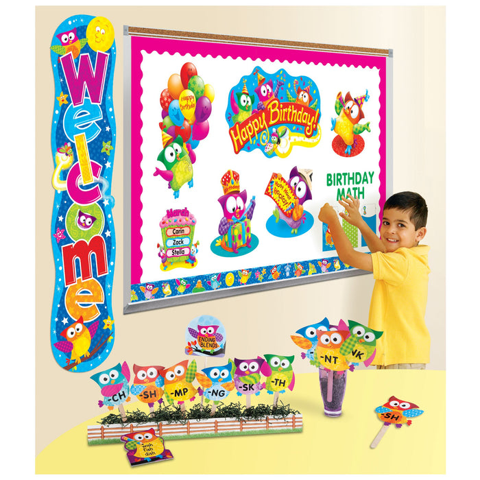 T77003 Library Pockets Owl Star Classroom