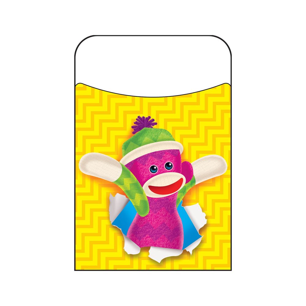T77005 Library Pockets Sock Monkey