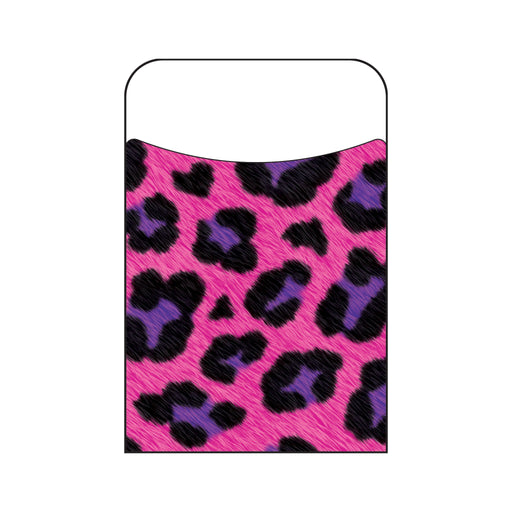 T77033 Library Pockets Leopard Pink