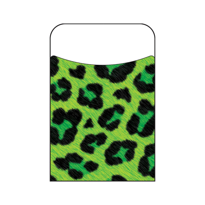 T77034 Library Pockets Leopard Green