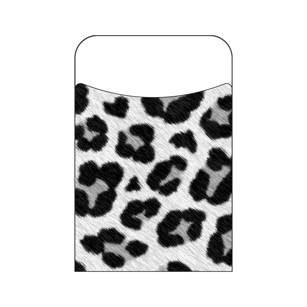 T77035 Library Pockets Leopard White