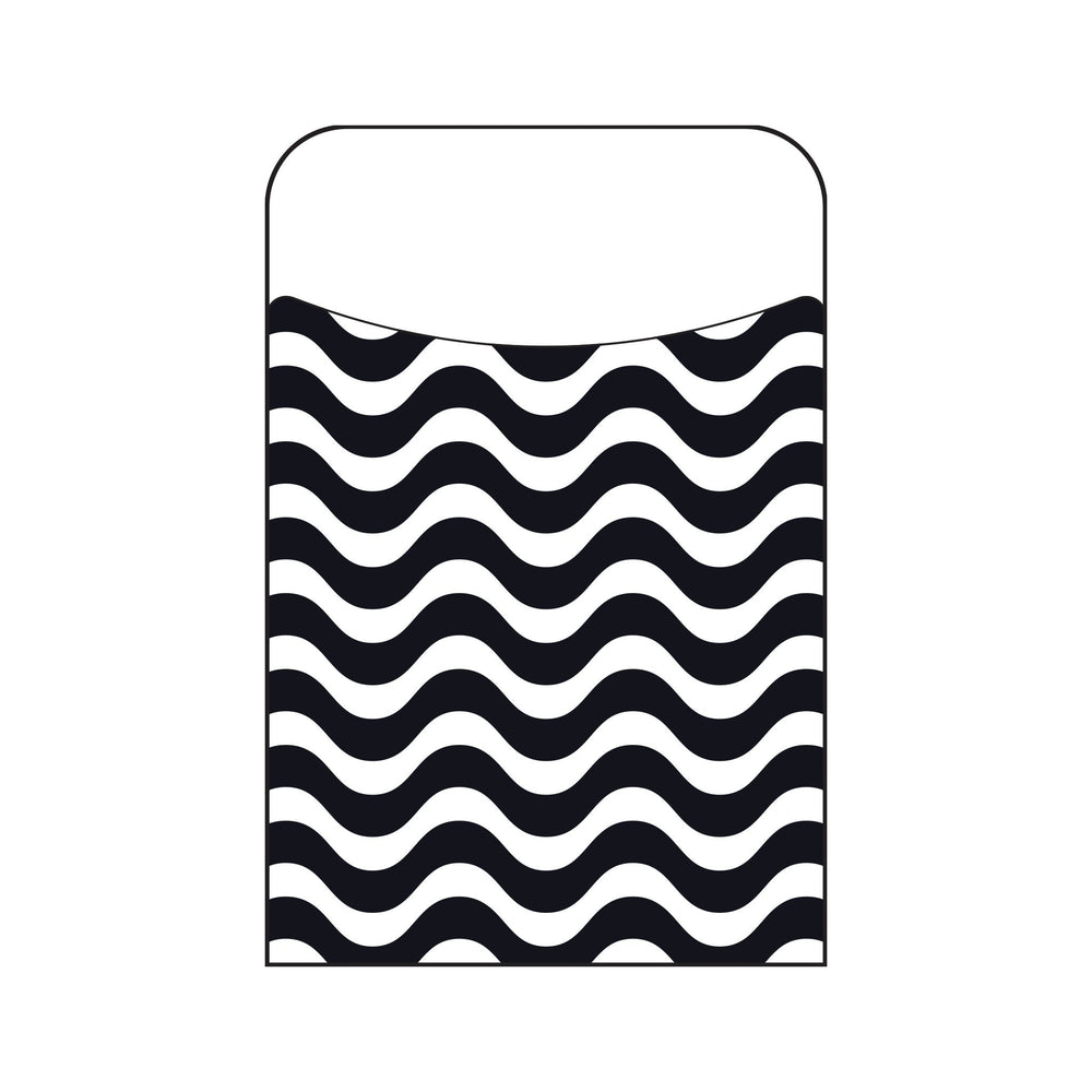 T77042 Library Pockets Wavy Black