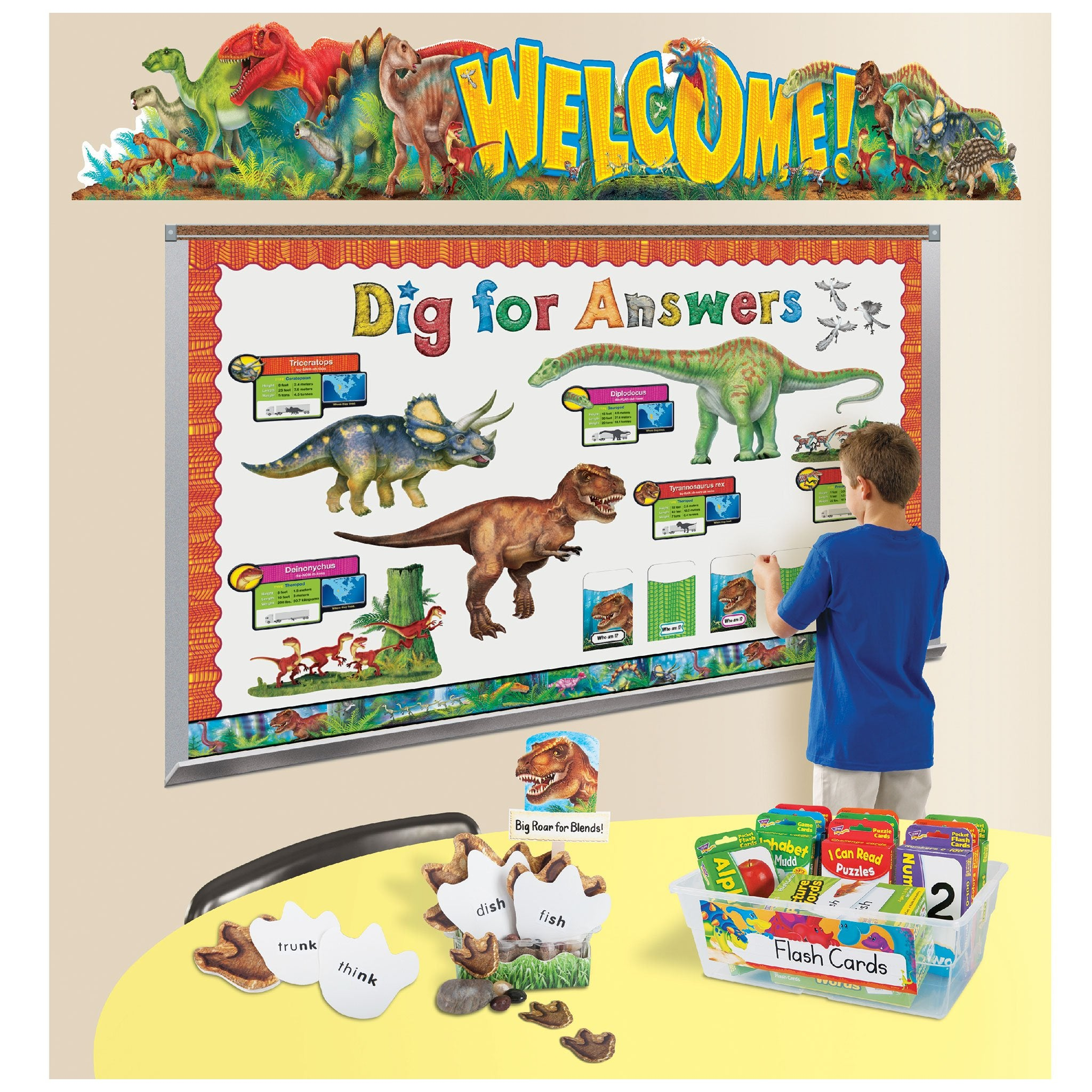 T77907 Library Pockets Pack Reptile Dinosaurs Classroom