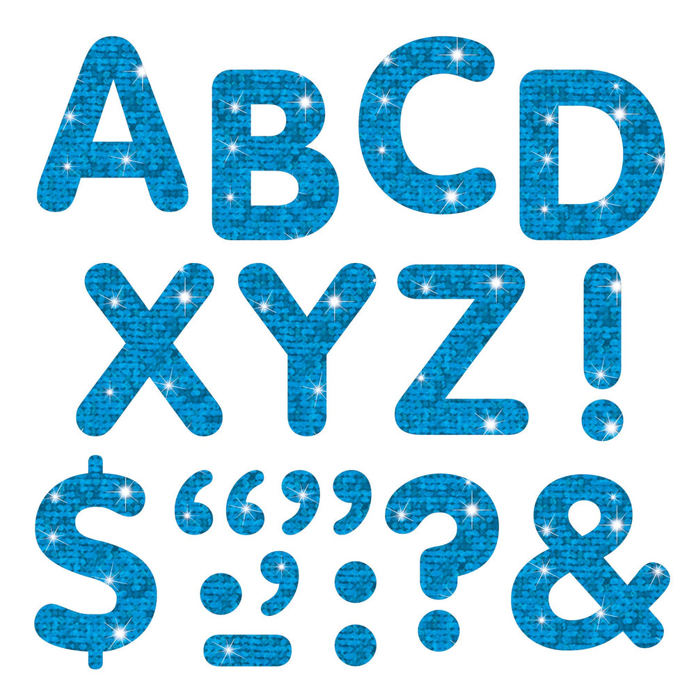 T78302 Letters inch Blue Sparkle
