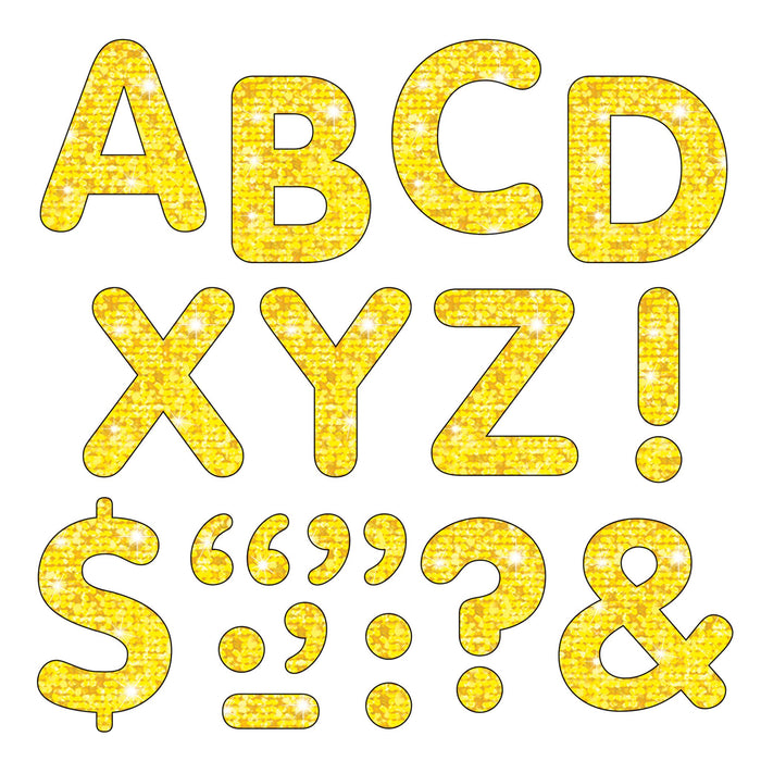 T78304 Letters inch Yellow Sparkle