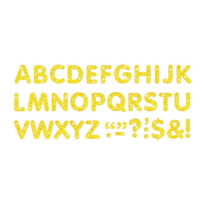 T78304 Letters Inch Yellow Sparkle Alphabet