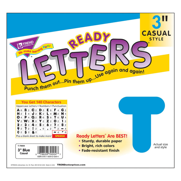 T79004 Letters 3 Inch Casual Blue Package