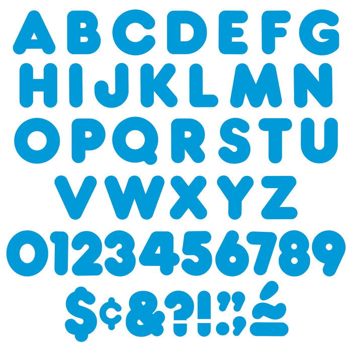 T79004 Letters 3 Inch Casual Blue Alphabet