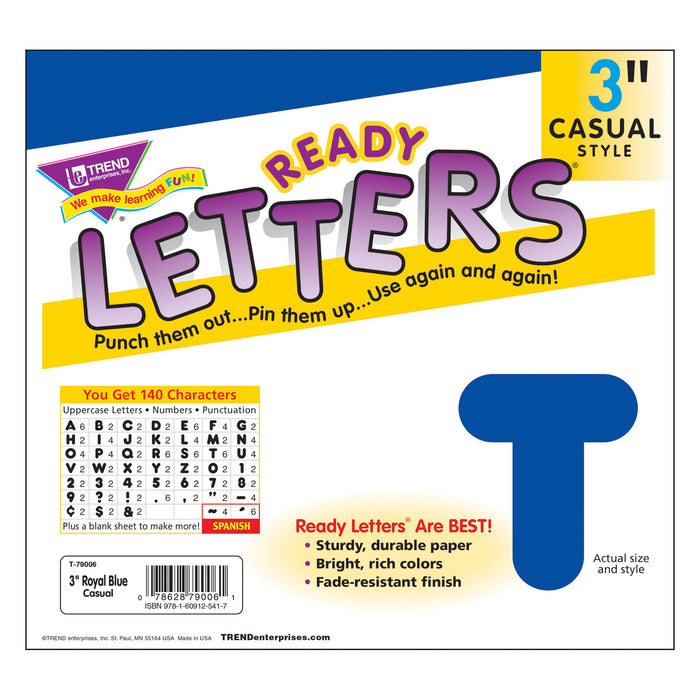 T79006 Letters 3 Inch Casual Royal Blue Package