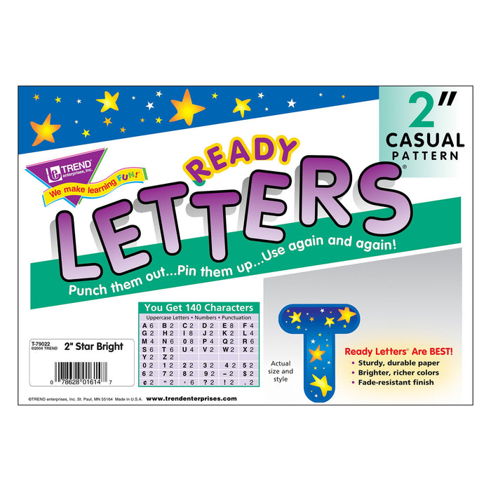 T79022 Letters Inch Casual Star Brights