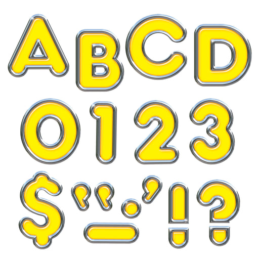 T79052 Letters 4 Inch Casual Yellow Chrome