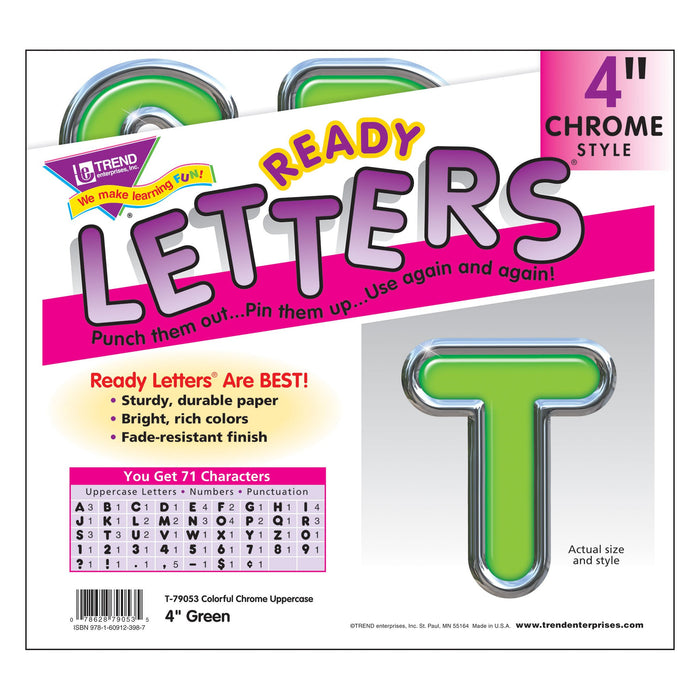 T79053 Letters 4 Inch Casual Green Chrome Package