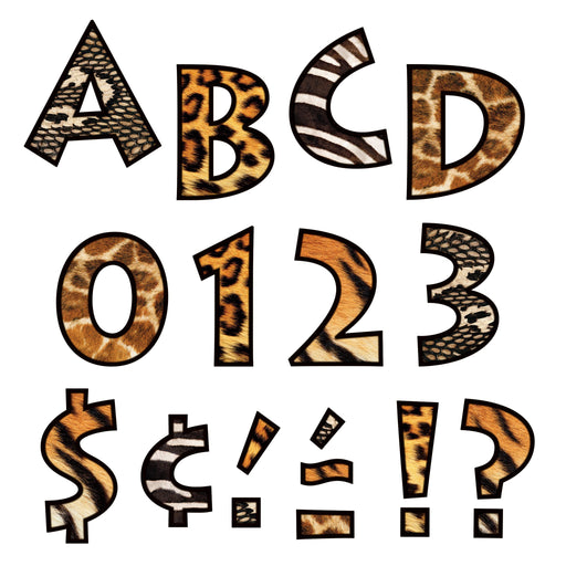 T79248 Letters 4 Inch Venture Animal Prints