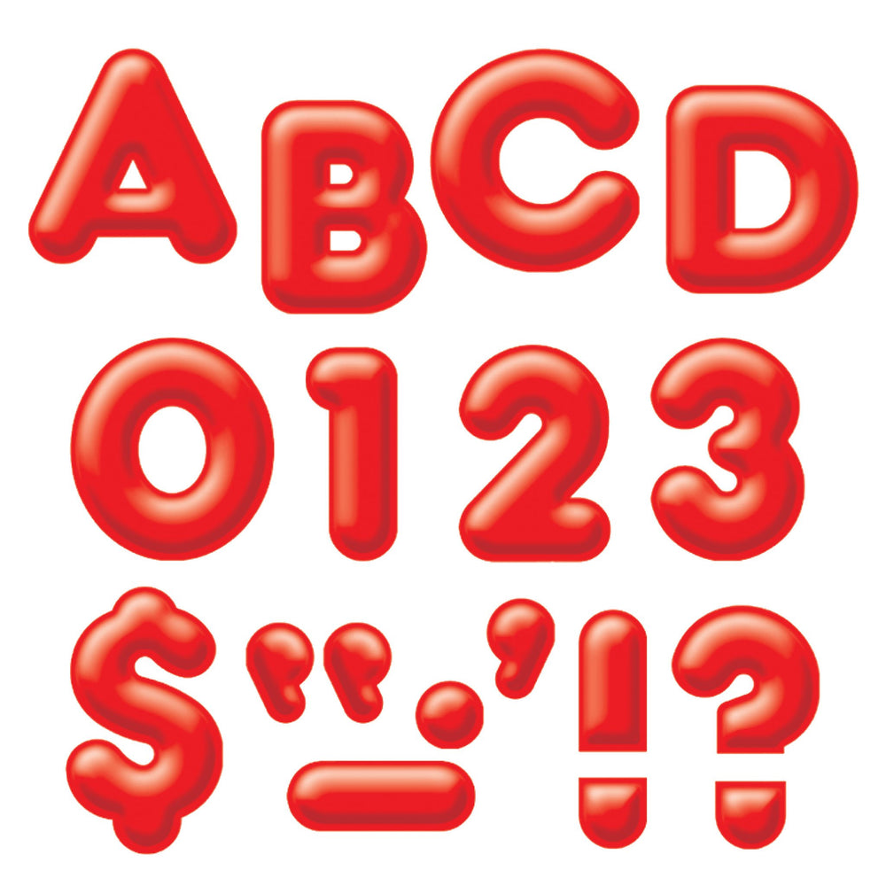 T79402 Letters Inch Casual Red 3 D
