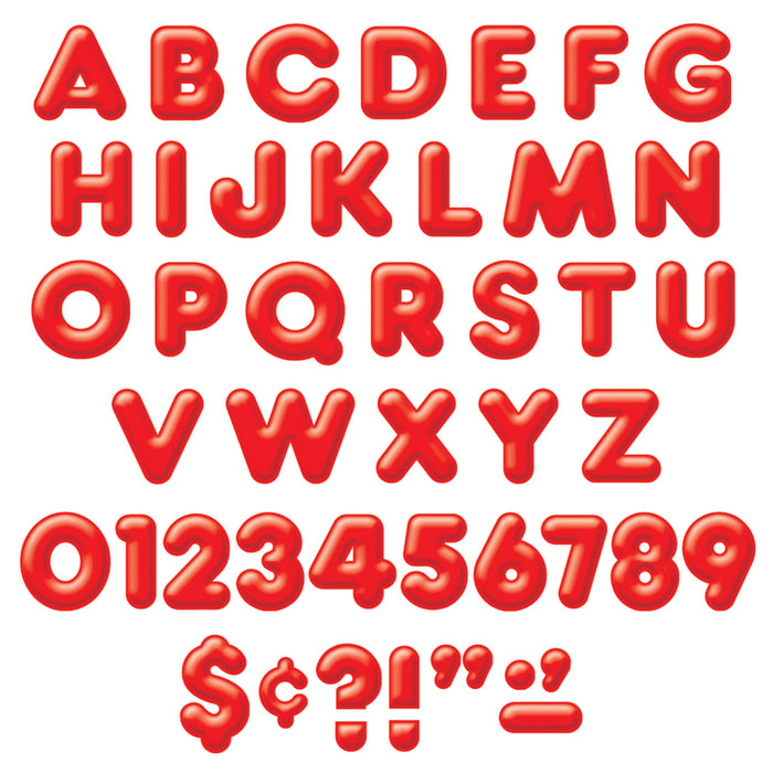 T79402 Letters Inch Casual Red 3 D Alphabet