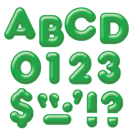 T79405 Letters Inch Casual Green 3 D