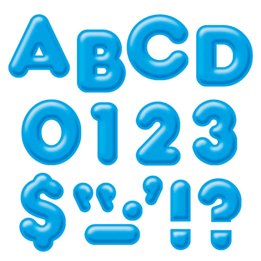 T79504 Letters 4 Inch Casual Blue 3 D