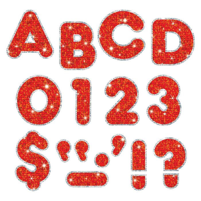 T79622 Letters Inch Casual Red Sparkle Plus
