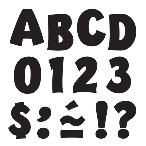 T79721 Letters Inch Black Playful