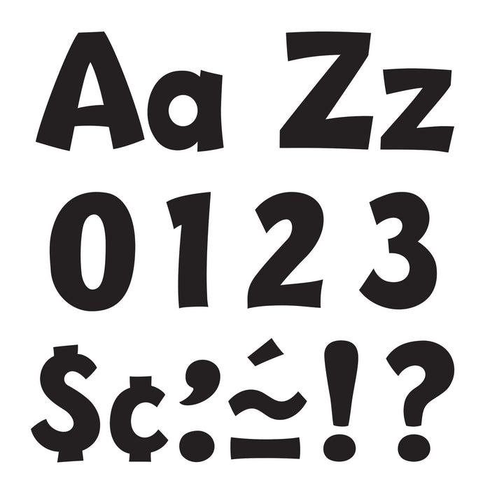 T79741 Letters 4 Inch Playful Black