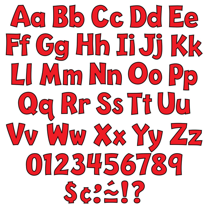 T79742 Letters 4 Inch Playful Red Alphabet