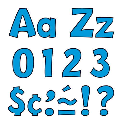 T79744 Letters 4 Inch Playful Blue