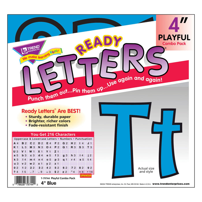 T79744 Letters 4 Inch Playful Blue Package