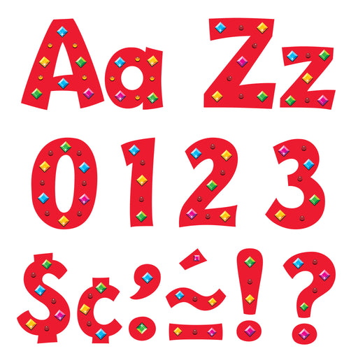 T79753 Letters 4 Inch Playful Jazzy Gems