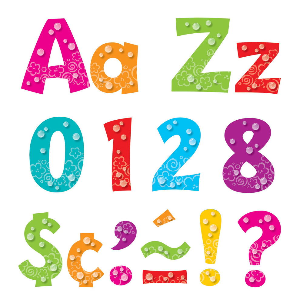 T79757 Letters 4 Inch Playful Bubbles