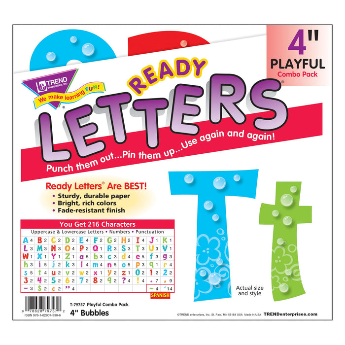 T79757 Letters 4 Inch Playful Bubbles Package