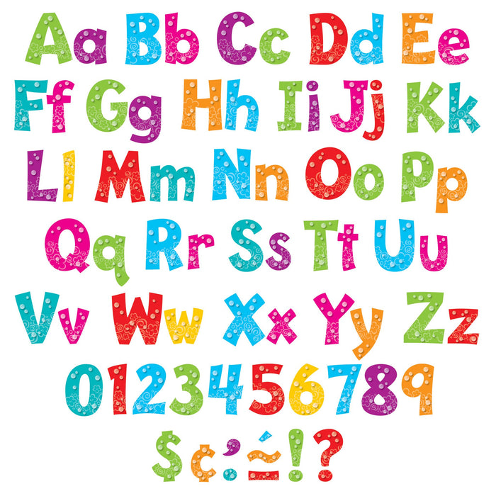 T79757 Letters 4 Inch Playful Bubbles Alphabet
