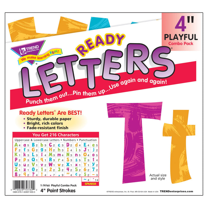 T79760 Letters 4 Inch Playful Harmony Package