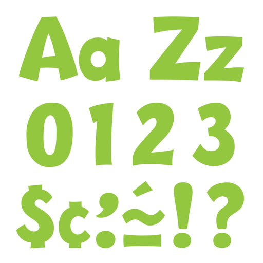 T79767 Letters 4 Inch Playful Lime